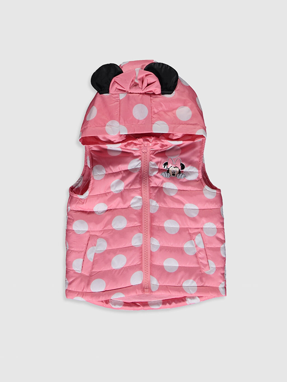 Pembe Kız Bebek Minnie Mouse Baskılı Şişme Yelek 0S0887Z1 LC Waikiki