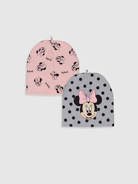 Gri Kız Bebek Minnie Mouse Baskılı Bere 2'li 0S0959Z1 LC Waikiki
