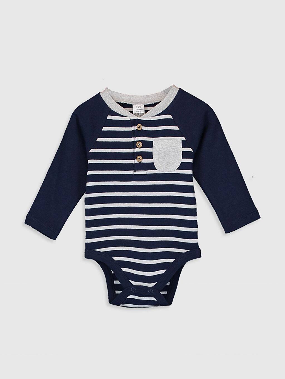Lacivert Erkek Bebek Çıtçıtlı Body 0S2172Z1 LC Waikiki