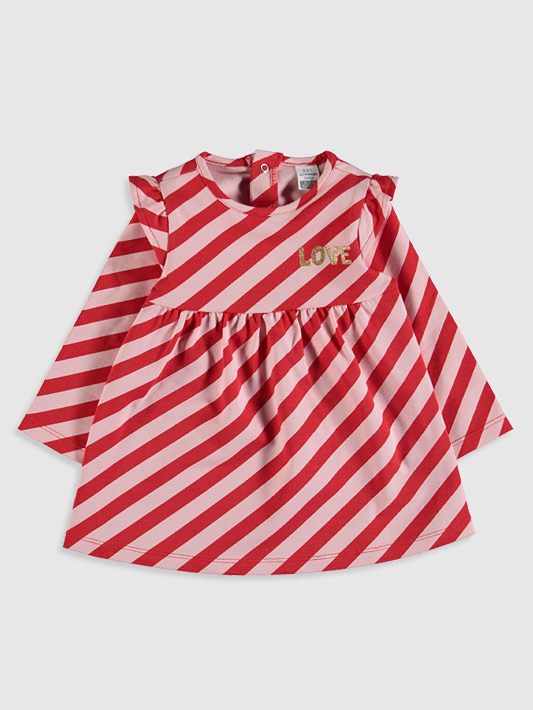 Pembe Kız Bebek Çizgili Elbise 0S2233Z1 LC Waikiki