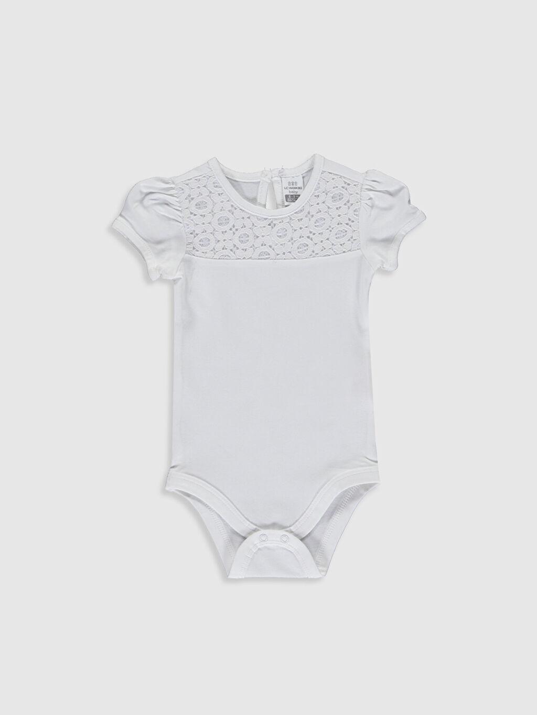 Beyaz Kız Bebek Çıtçıtlı Body 0S2237Z1 LC Waikiki