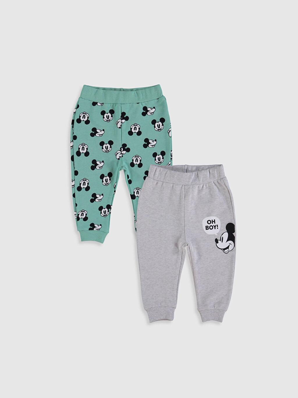 Ekru Erkek Bebek Mickey Mouse Baskılı Pantolon 2'li 0S2405Z1 LC Waikiki