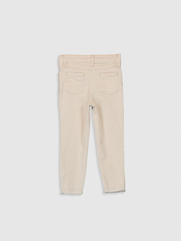 %97 Pamuk %3 Elastan Normal Bel Pantolon Düz Gabardin Orta Kalınlık Kız Bebek Gabardin Pantolon