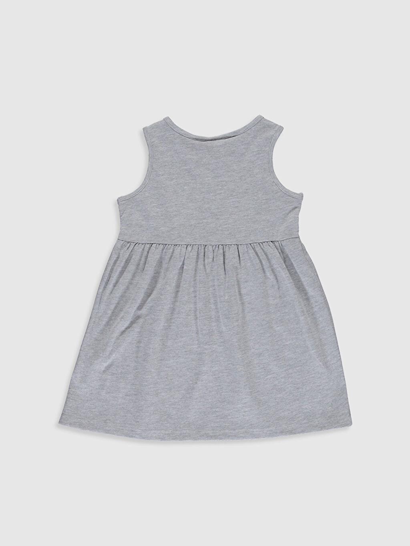 %50 Pamuk %50 Polyester Kız Bebek Minnie Mouse Baskılı Elbise