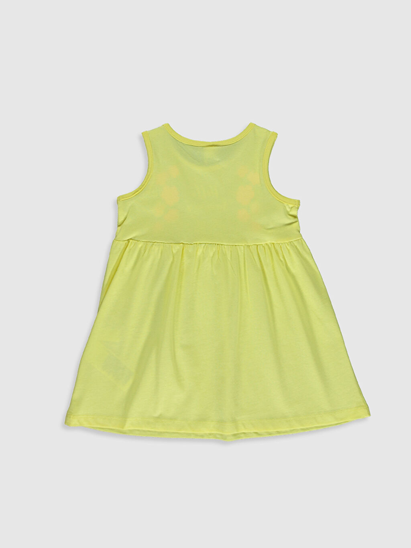 %100 Pamuk %100 Pamuk Standart Baskılı Günlük Elbise Penye İnce Kısa Kol Kız Bebek Baskılı Elbise