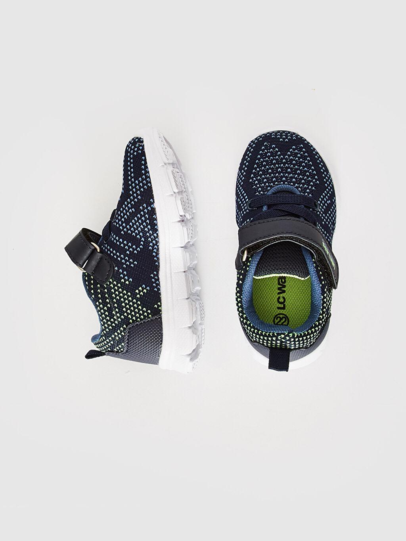 Bağcık ve Cırt Cırt Spor Çantası Işıksız Sneaker Erkek Bebek Cırt Cırtlı Spor Ayakkabı