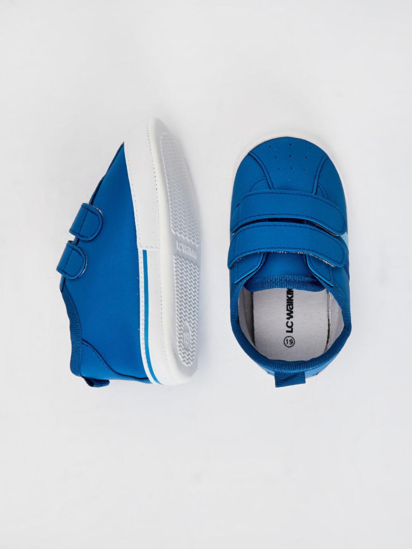 Diğer malzeme (poliüretan)  %0 Tekstil malzemeleri (%100 pamuk) Cırt Cırt Işıksız Yürümeyen Erkek Bebek Cırt Cırtlı Yürüme Öncesi Ayakkabı