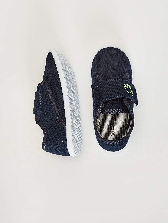 %0 Tekstil malzemeleri (%100 poliester) Cırt Cırt Işıksız Sneaker Erkek Bebek Bez Günlük Spor Ayakkabı