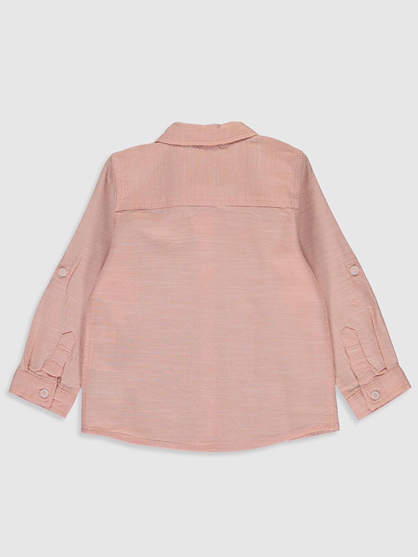 %79 Pamuk %21 Viskoz %100 Polyester Gömlek Gömlek Standart Astarsız Tam Pat Uzun Kol Düz Papyon Erkek Bebek Gömlek ve Papyon