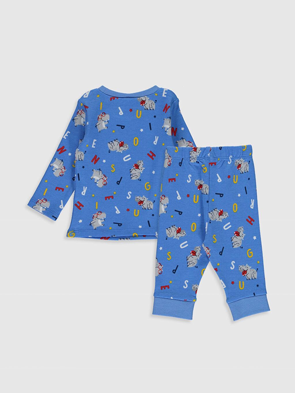 %100 Pamuk %100 Pamuk %100 Pamuk Standart Pijama Takım Ribana Erkek Bebek Desenli Pijama Takımı