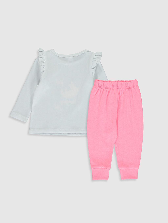 %100 Pamuk %52 Pamuk %48 Polyester %100 Pamuk Standart Pijama Takım Fırfırlı Penye Kız Bebek Baskılı Pamuklu Pijama Takımı