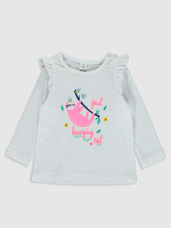 Kız Bebek Kız Bebek Baskılı Pamuklu Pijama Takımı