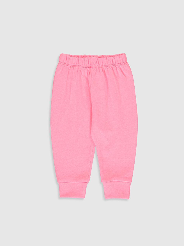 Kız Bebek Baskılı Pamuklu Pijama Takımı