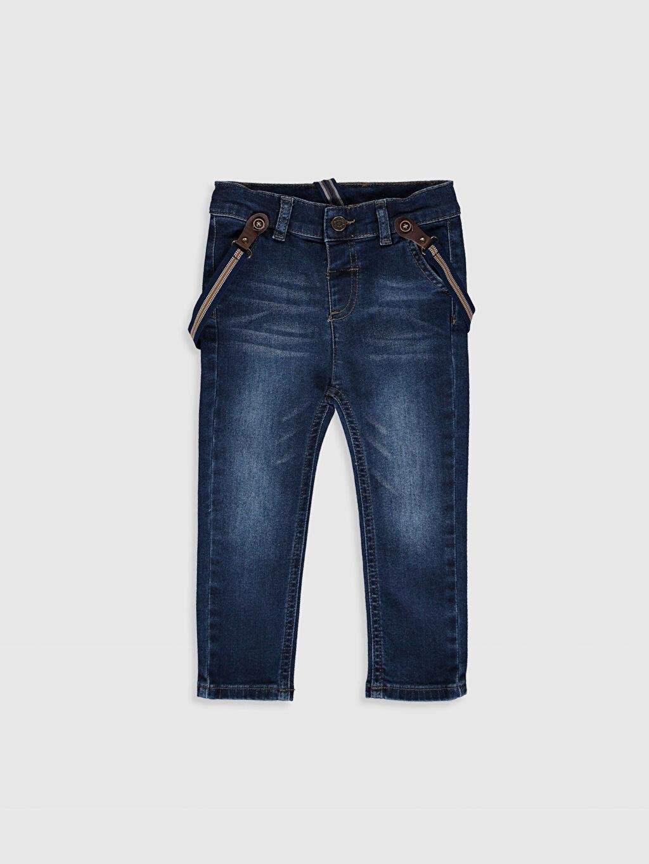 İndigo Erkek Bebek Slım Fıt Jean Pantolon ve Pantolon Askısı 0S3594Z1 LC Waikiki