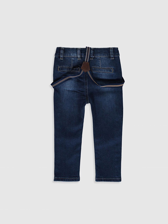 %80 Polyester %20 ELASTODİEN %99 Pamuk %1 Elastan Düz Astarsız Dar Jean Askı Erkek Bebek Slım Fıt Jean Pantolon ve Pantolon Askısı