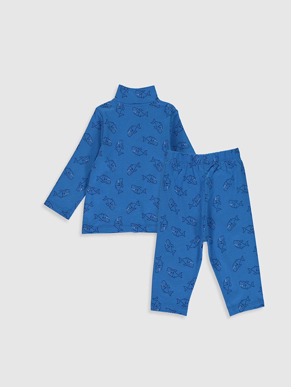 %100 Pamuk %100 Pamuk Penye Standart Pijama Takım %100 Pamuk İnce Uzun Kol Erkek Bebek Desenli Pijama Takımı