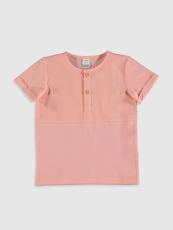 Pembe Erkek Bebek Pamuklu Baskılı Tişört 0S4717Z1 LC Waikiki