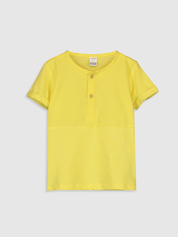 Sarı Erkek Bebek Pamuklu Baskılı Tişört 0S4717Z1 LC Waikiki