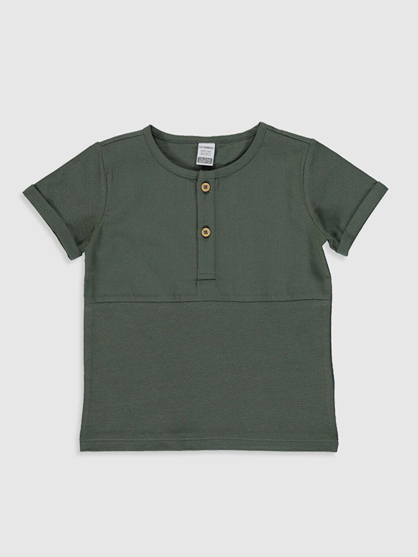Yeşil Erkek Bebek Pamuklu Baskılı Tişört 0S4717Z1 LC Waikiki