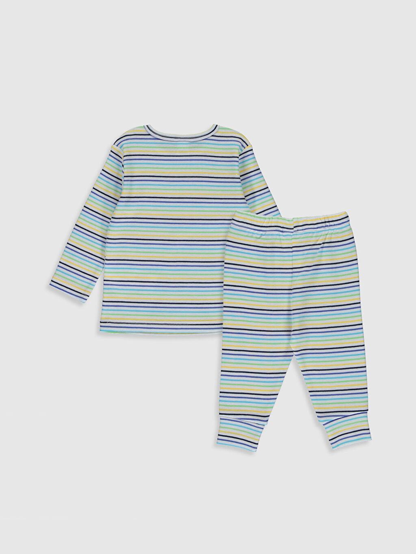 %100 Pamuk %100 Pamuk Ribana Standart Pijama Takım %100 Pamuk Erkek Bebek Çizgili Pamuklu Pijama Takımı
