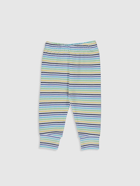 Erkek Bebek Çizgili Pamuklu Pijama Takımı