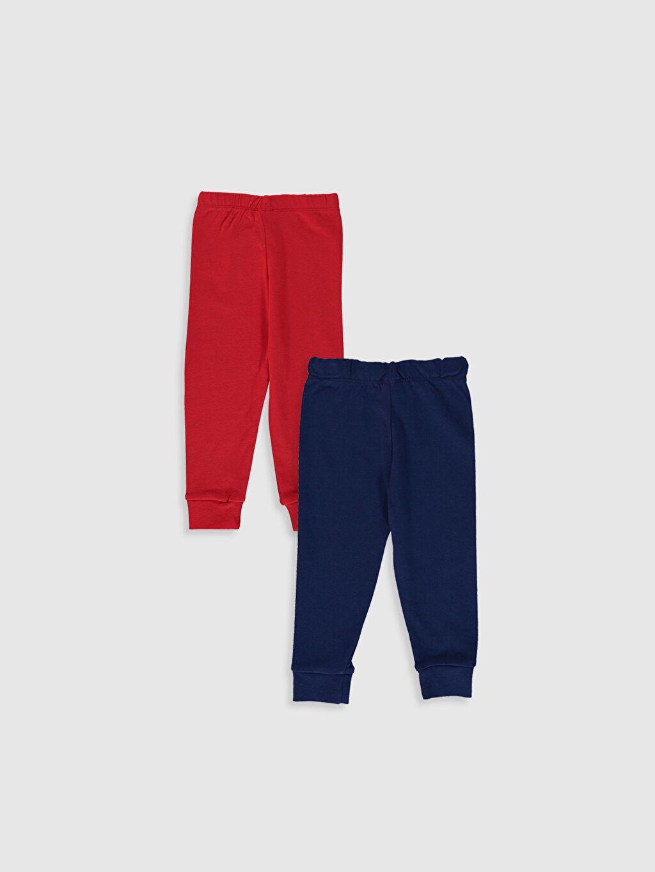 %100 Pamuk Ribana Standart Pijama Alt %100 Pamuk Erkek Bebek Pijama Alt 2'li