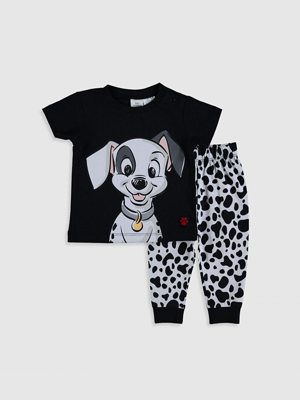 Siyah Erkek Bebek Dalmaçyalı Pijama Takımı 0S5019Z1 LC Waikiki