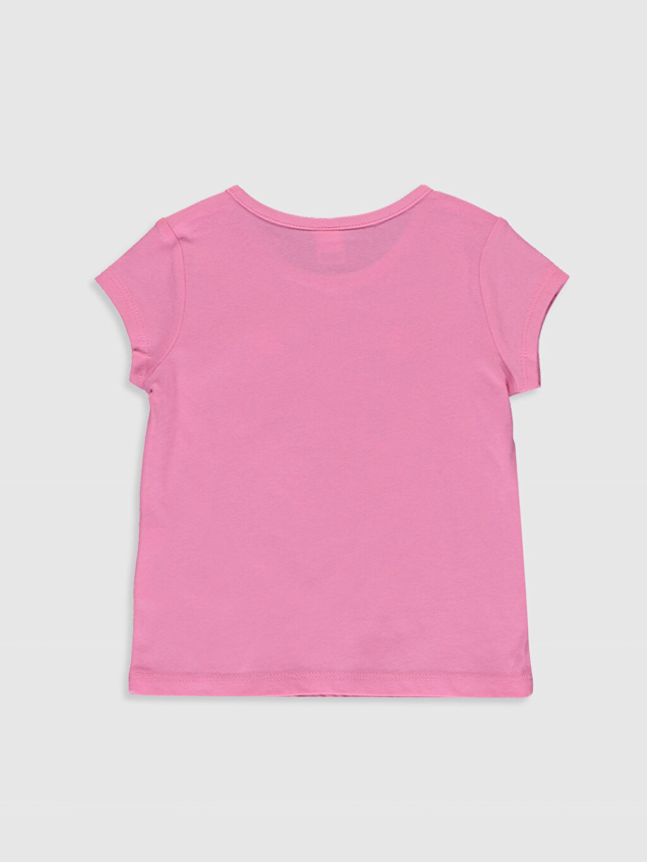 %100 Pamuk Standart Tişört Bisiklet Yaka Kısa Kol %100 Pamuk Baskılı Kız Bebek Baskılı Tişört