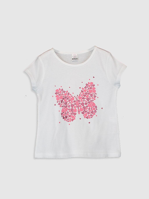 Beyaz Kız Bebek Baskılı Tişört 0S5256Z1 LC Waikiki
