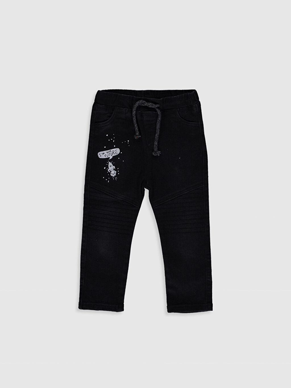 Siyah Erkek Bebek Baskılı Jean Pantolon 0S6065Z1 LC Waikiki