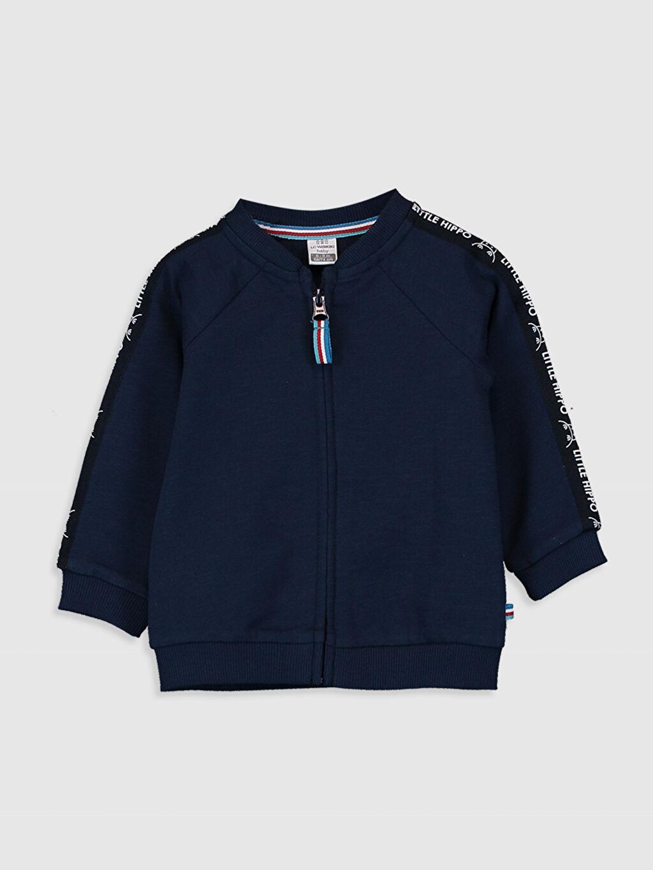 Lacivert Erkek Bebek Fermuarlı Sweatshirt 0S6495Z1 LC Waikiki