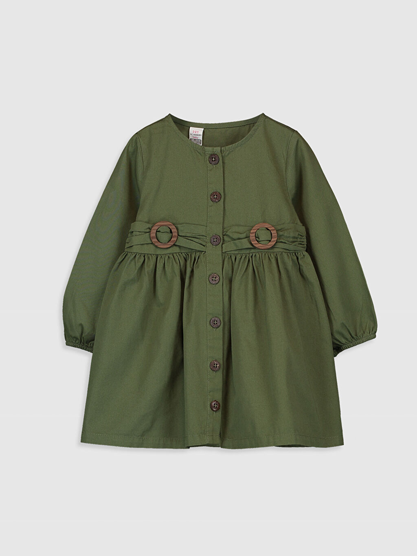 Haki Kız Bebek Twill Elbise 0S6532Z1 LC Waikiki