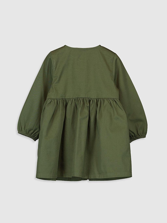 %100 Pamuk %100 Pamuk Elbise Uzun Kol Gabardin Orta Kalınlık Kız Bebek Twill Elbise