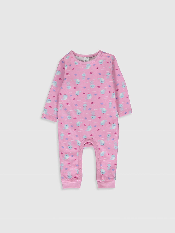 Pembe Kız Bebek Desenli Pamuklu Tulum 0S6783Z1 LC Waikiki