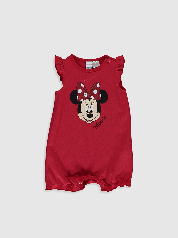 Kırmızı Kız Bebek Minnie Mouse Baskılı Tulum 0S6883Z1 LC Waikiki