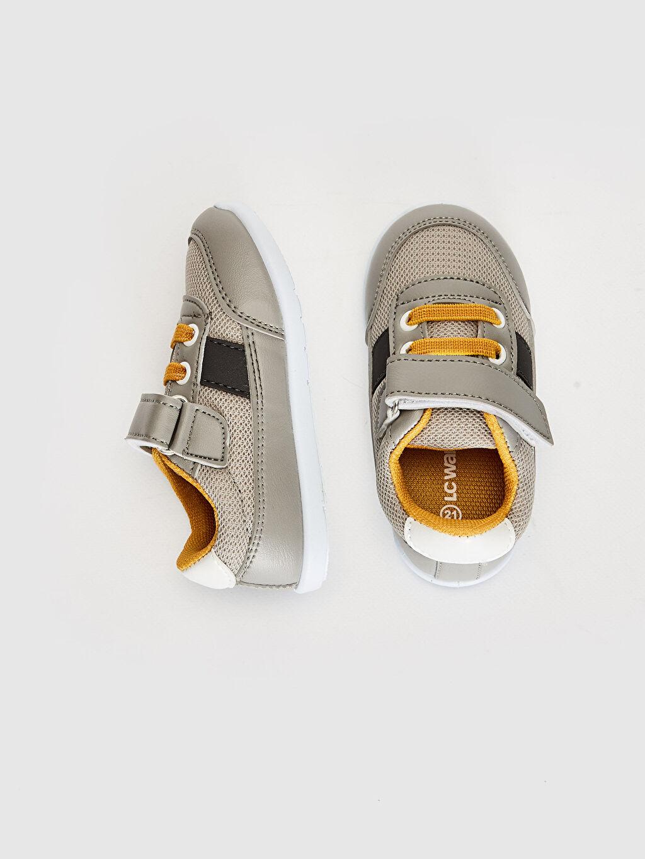%0 Diğer malzeme (pvc) %0 Tekstil malzemeleri (%100 poliester) Sneaker Bağcık ve Cırt Cırt Işıksız Erkek Bebek Günlük Spor Ayakkabı