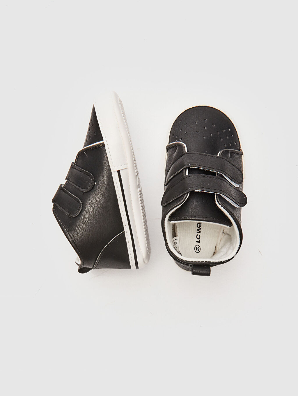 Diğer malzeme (poliüretan) Cırt Cırt Işıksız Yürümeyen Erkek Bebek Yürüme Öncesi Ayakkabı