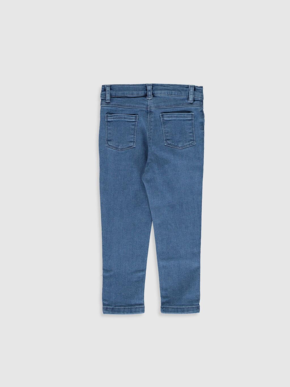 %90 Pamuk %8 Polyester %2 Elastan Standart Jean Orta Kalınlık Kız Bebek Skınny Fıt Jean Pantolon
