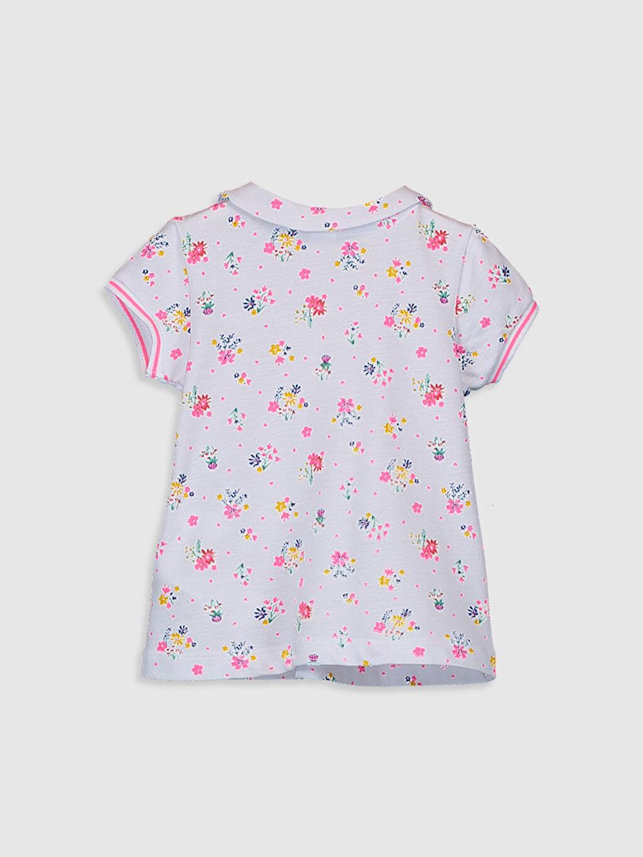 %100 Pamuk %100 Pamuk Bebe Yaka Standart Tişört Kısa Kol Pike Kız Bebek Desenli Pamuklu Tişört