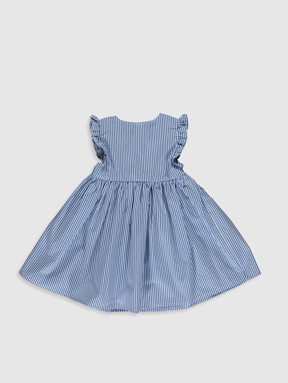 %100 Pamuk %100 Pamuk Baskılı Elbise Poplin Standart İnce Günlük Kız Bebek Pamuklu Elbise