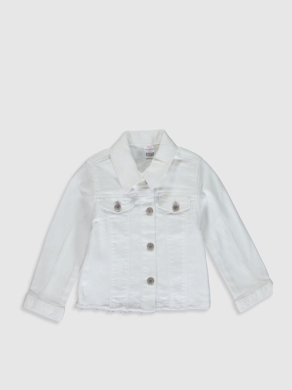 Beyaz Kız Bebek Gabardin Ceket 0SG340Z1 LC Waikiki