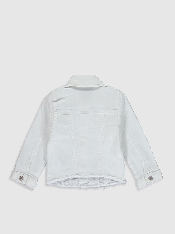 %98 Pamuk %2 Elastan Günlük Gabardin Ceket Uzun Kol Orta Kalınlık Kız Bebek Gabardin Ceket