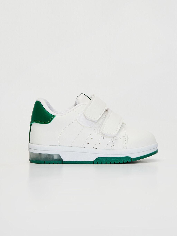 Beyaz Erkek Bebek Günlük Bilekli Ayakkabı 0SG557Z1 LC Waikiki