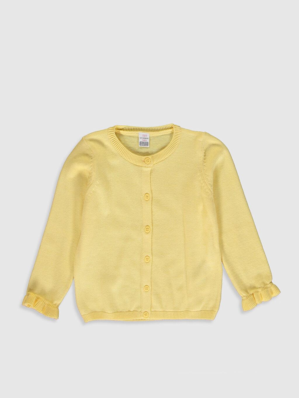Sarı Kız Bebek İnce Triko Hırka 0SG793Z1 LC Waikiki