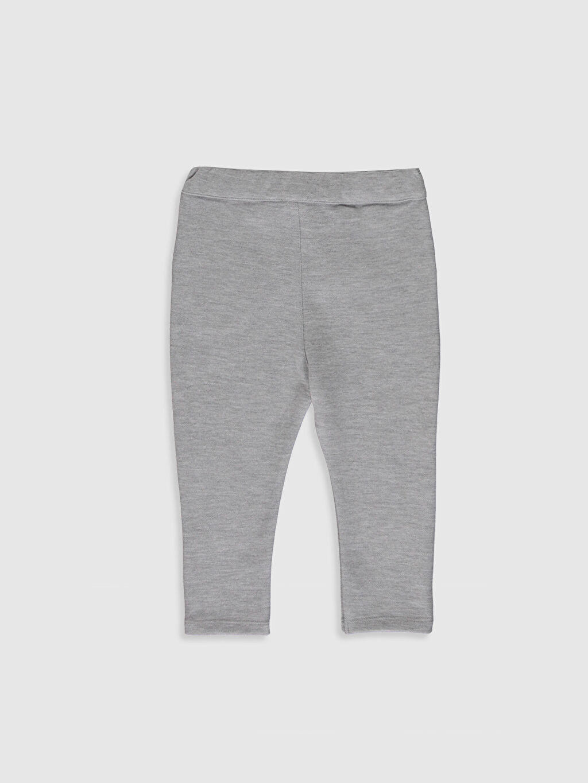 %55 Pamuk %45 Polyester Eşofman Altı Düz Pike Orta Kalınlık Şık Erkek Bebek Pantolon