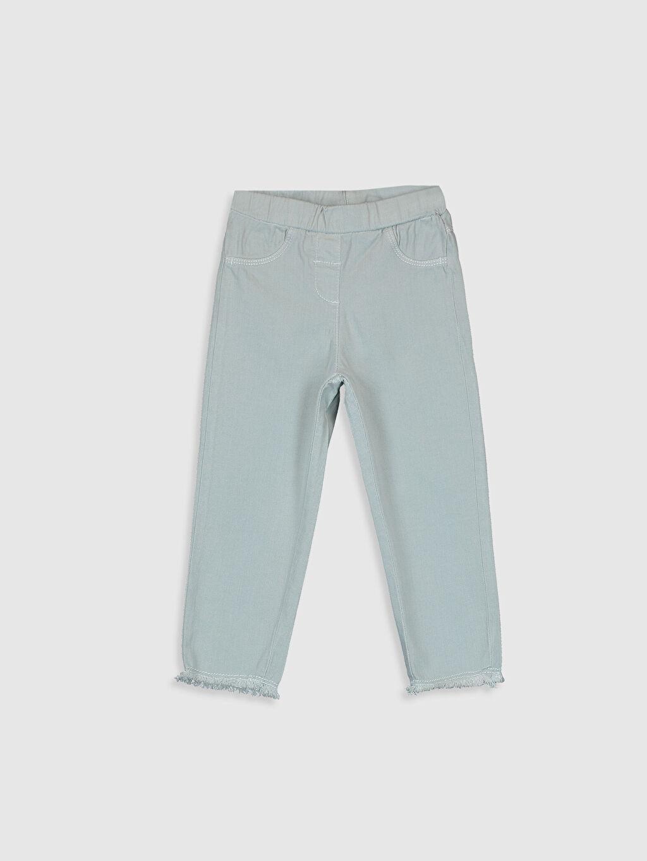 Yeşil Kız Bebek Pamuklu Pantolon 0SI083Z1 LC Waikiki