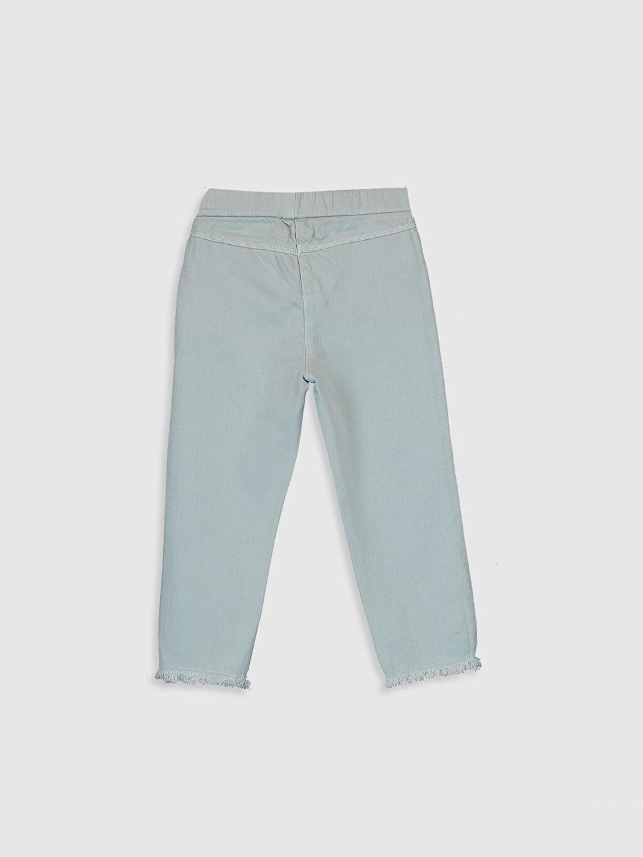 %97 Pamuk %3 Elastan Pantolon Standart Normal Bel Orta Kalınlık Kız Bebek Pamuklu Pantolon