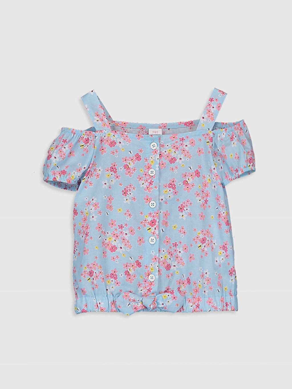 Mavi Kız Bebek Desenli Bluz 0SI741Z1 LC Waikiki