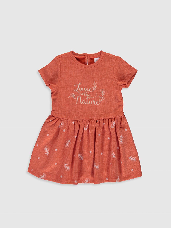 Turuncu Kız Bebek Jakar Elbise 0SJ419Z1 LC Waikiki