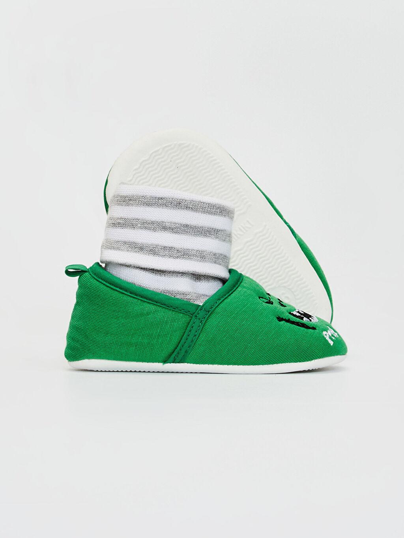 Erkek Bebek Erkek Bebek Yürüme Öncesi Çoraplı Ev Ayakkabısı